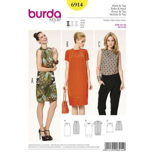 Burda Pattern 6914 Women's Dress