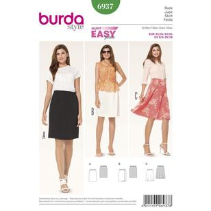 Burda Pattern 6937 Women's Skirt