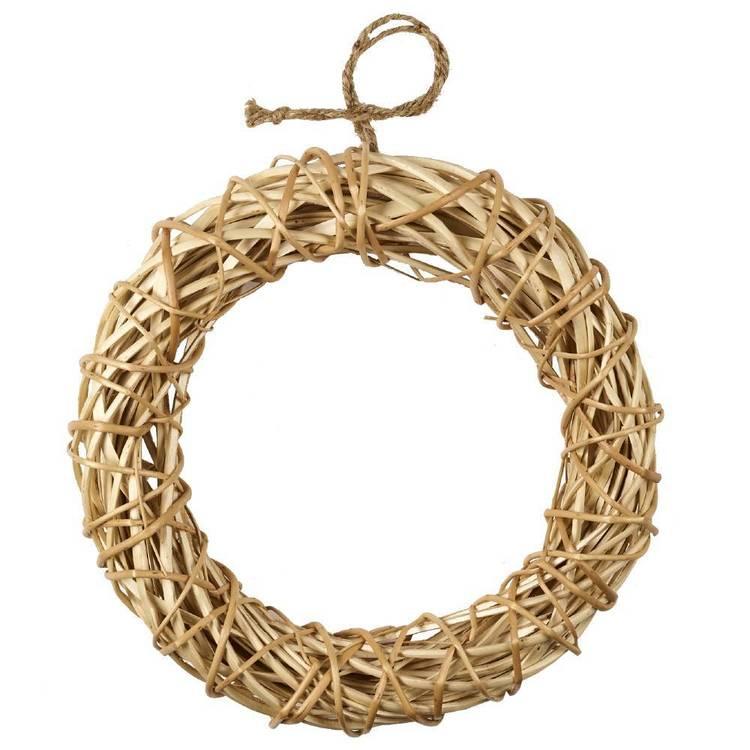 Shamrock Craft Cane Wreath With Jute