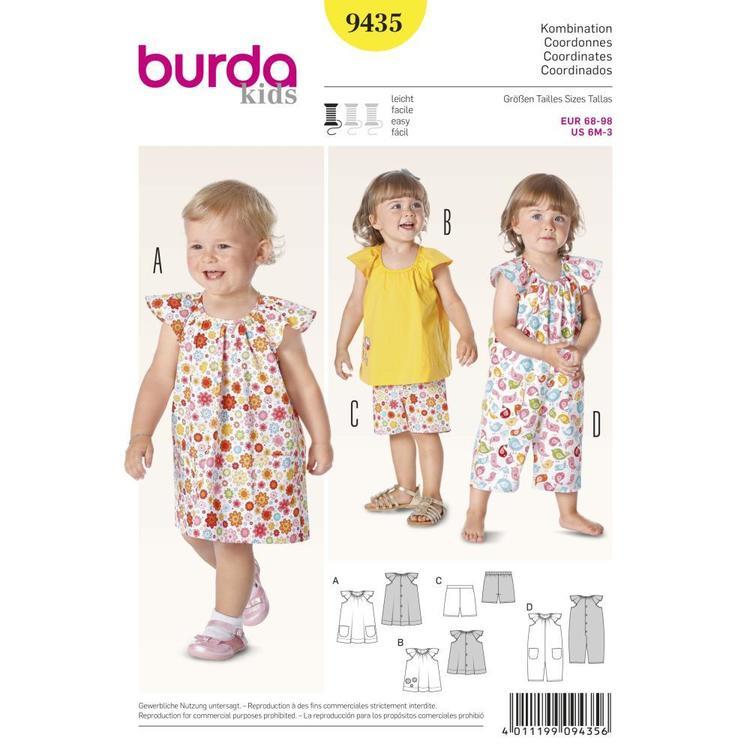 Burda Pattern 9435 Baby Coordinates