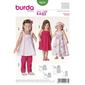 Burda Pattern 9437 Girl's Coordinates  18 Months - 6 Years