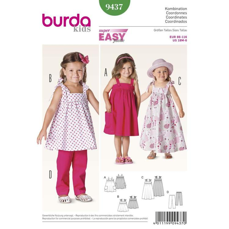 Burda Pattern 9437 Girl's Coordinates