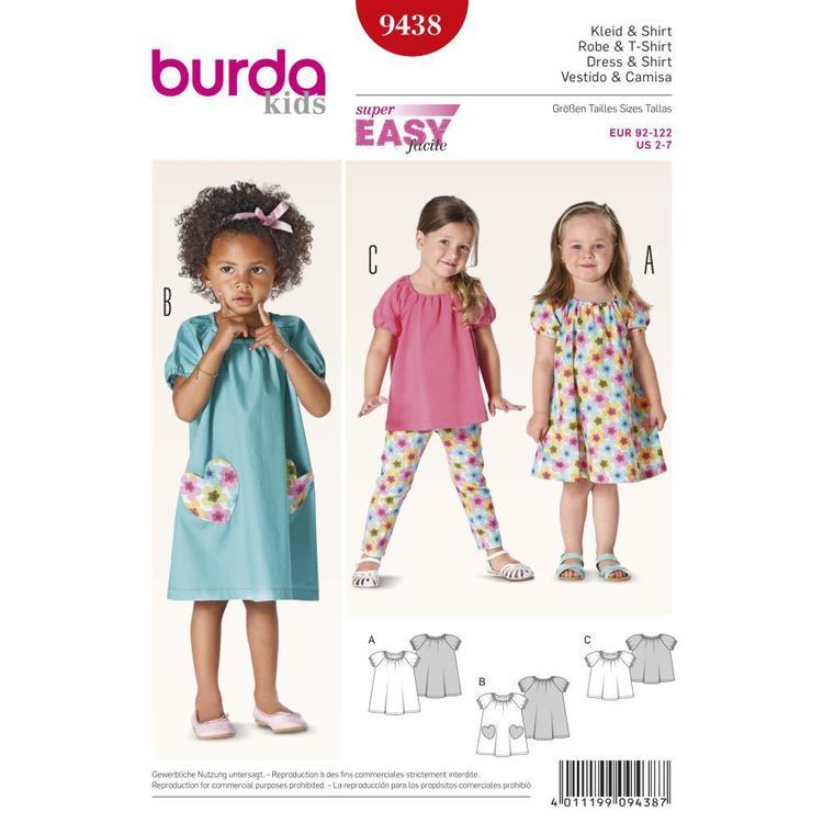 Burda Pattern 9438 Girl's Coordinates