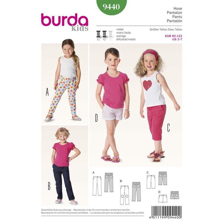 Burda Pattern 9440 Girl's Coordinates