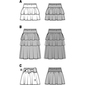 Burda Pattern 9442 Girl's Skirt  2 - 9