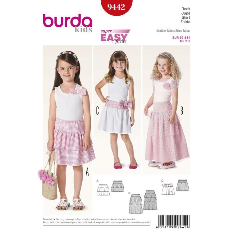 Burda Pattern 9442 Girl's Skirt