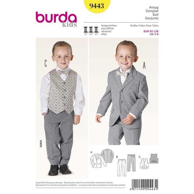Burda Pattern 9443 Boy's Evening Wear
