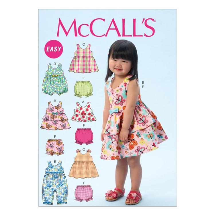 McCall's Pattern M6944 Toddlers' Top Dresses Rompers & Panties