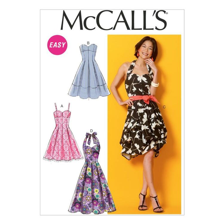 McCalls M6956 Misses' Dresses & Belt