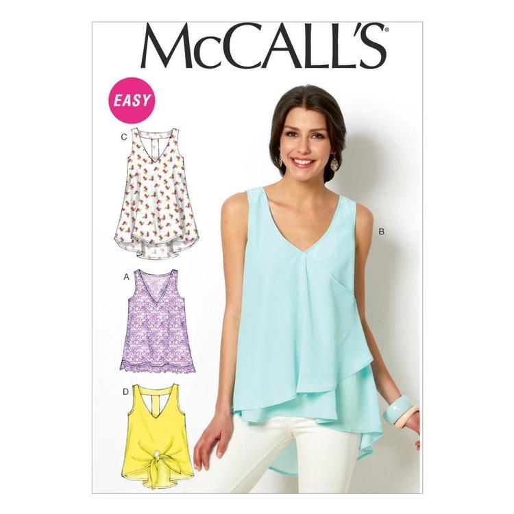 McCall's Pattern M6960 Misses' Tops & Tunics