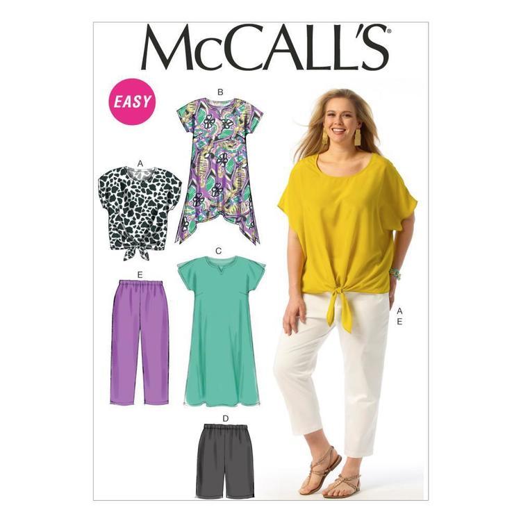 McCall's Pattern M6971 Womens' Top Tunic Dress Shorts & Pants