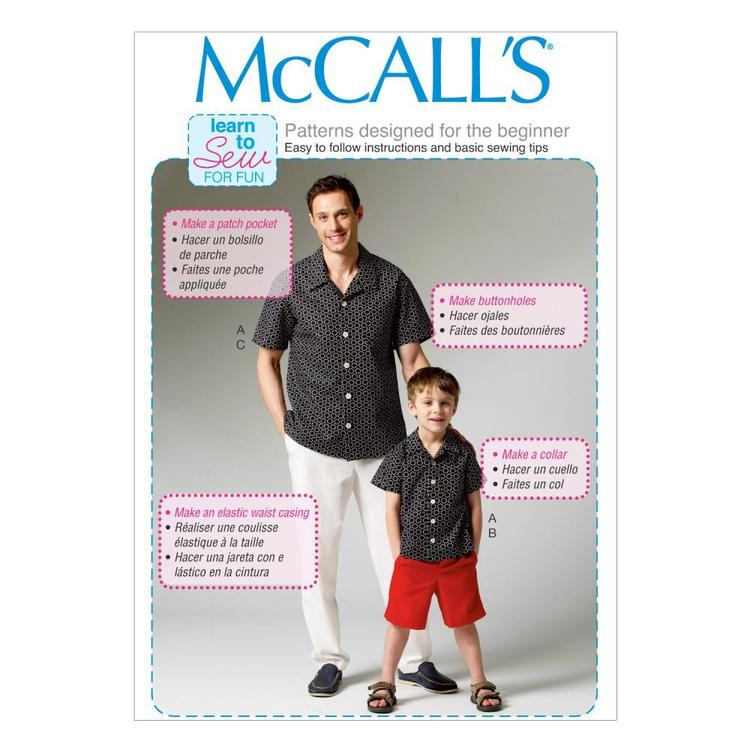 McCall's Pattern M6972 Men's Shirt Shorts & Pants