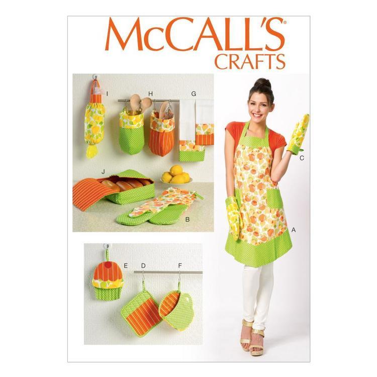 Kitchen Accessory Shop: McCalls M6978 Apron & Kitchen Accessories