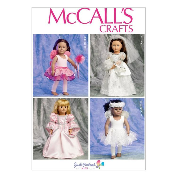 McCall's Pattern M6981 Clothes & Accessories For 18