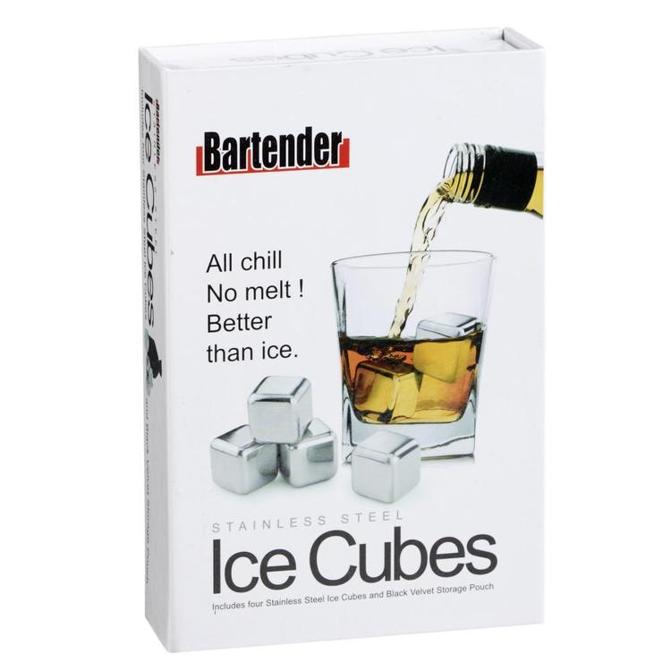Bartender Ice Cubes Silver