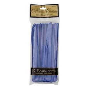 Amscan Bright Royal Blue Heavy Weight Plastic Knives 20 Pack