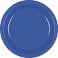 Amscan Bright Royal Blue Plastic Round Plates 20 Pack Bright Royal Blue