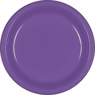 Amscan New Purple Plastic Round Plates 20 Pack