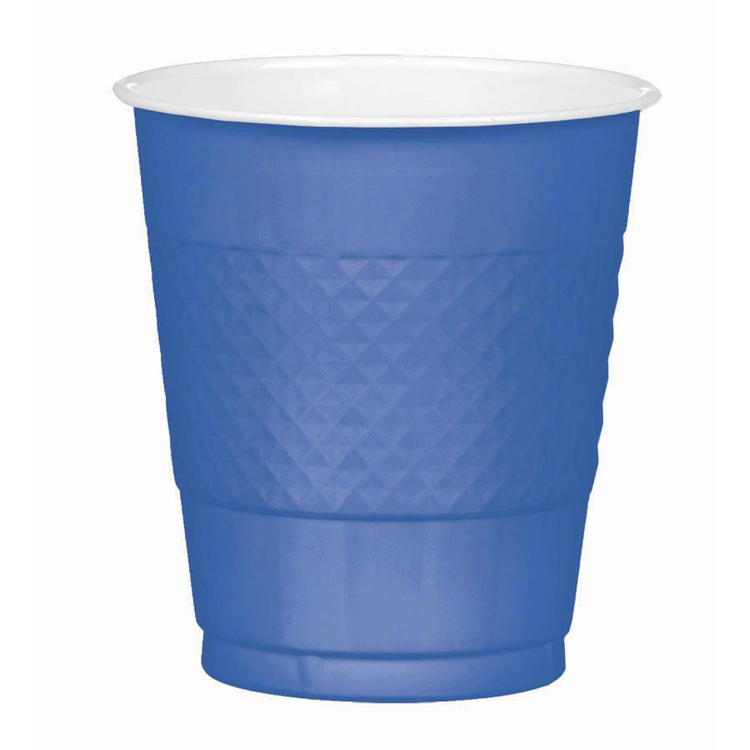 Amscan Bright Royal Blue Plastic Cups
