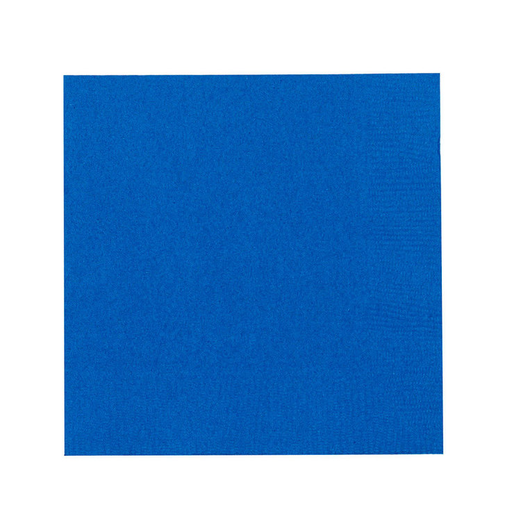 Amscan 2 Ply Bright Royal Blue Beverage Napkins Bright Royal Blue