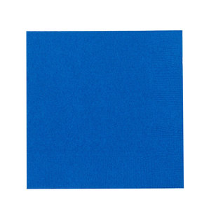 Amscan 2 Ply Bright Royal Blue Beverage Napkins - Everyday Bargain