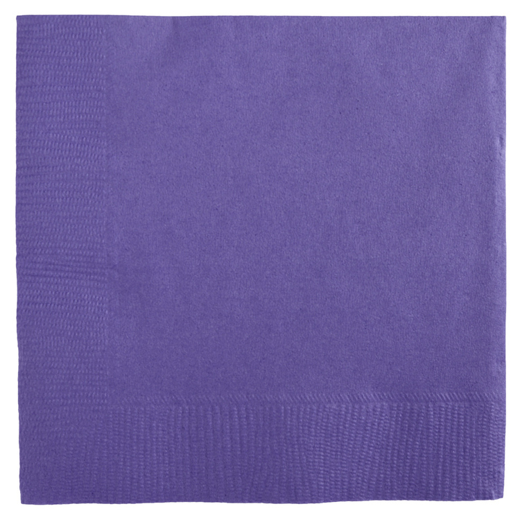 Amscan 2 Ply New Purple Beverage Napkins New Purple