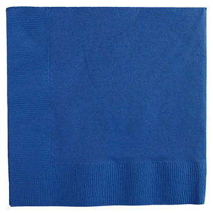 Amscan 2 Ply Bright Royal Blue Lunch Napkins - Everyday Bargain