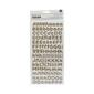 American Crafts Thickers Cork Scene Alphabet Stickers Brown