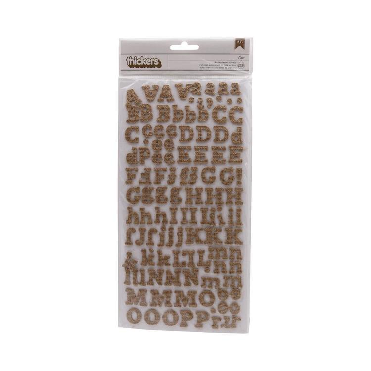 American Crafts Thickers Burlap Eric