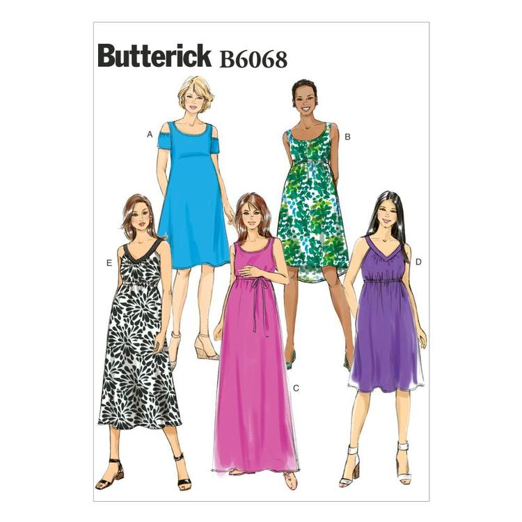 Butterick B6068 Misses' Maternity Dress & Belt