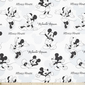 Disney Mickey & Minnie Mouse Fabric White 150 cm
