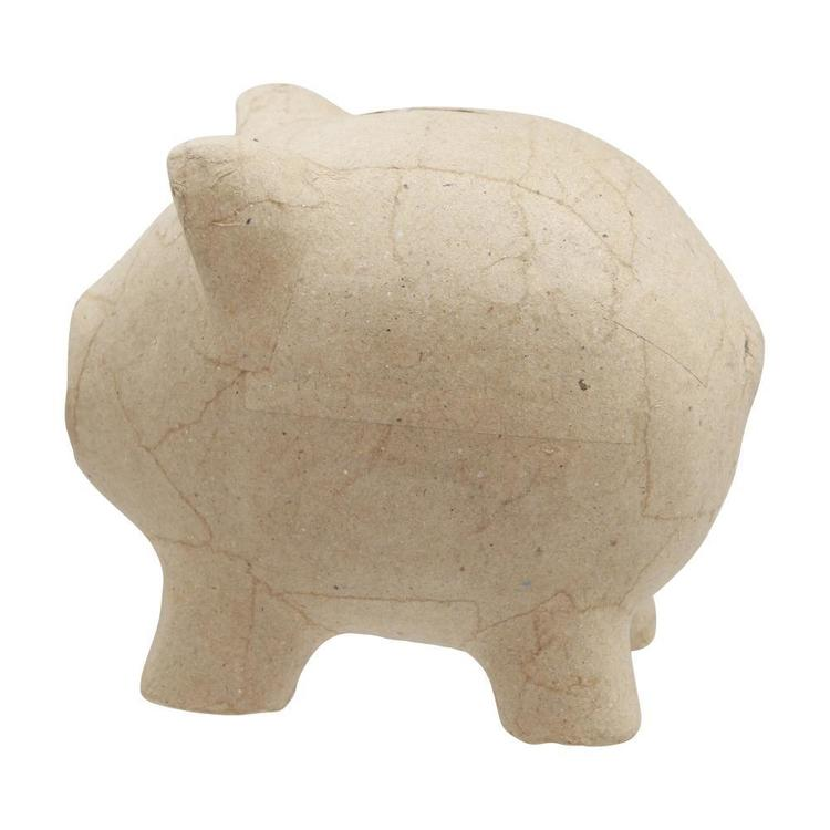 Shamrock Craft Papier Mache Piggy Bank Natural