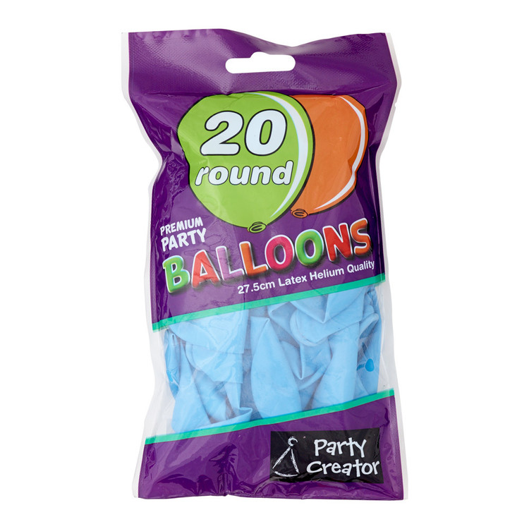 Party Creator Balloons 20 Pack Powder Blue Everyday Bargain