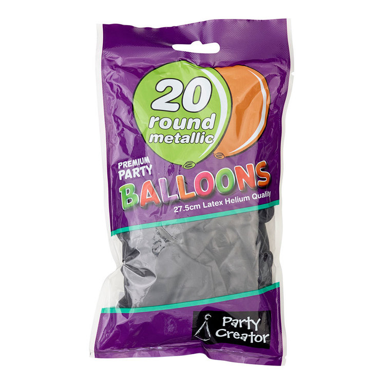 Party Creator Metallic Balloons 20 Pack - Everyday Bargain