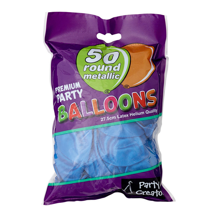 Party Creator Metallic Balloons 50 Pack - Everyday Bargain