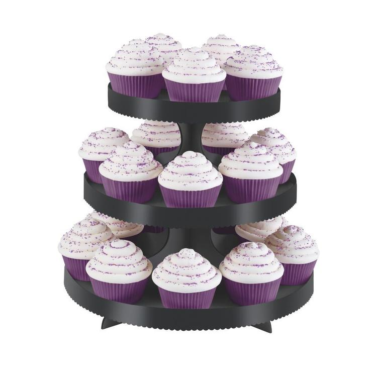 Wilton Plain Cupcake Stand Kit Black