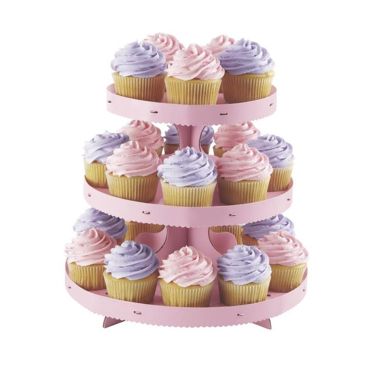 Wilton Embossed Cupcake Stand Kit Pink