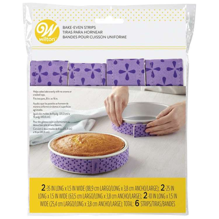 Wilton Bake Even Strips 6 Pack Purple
