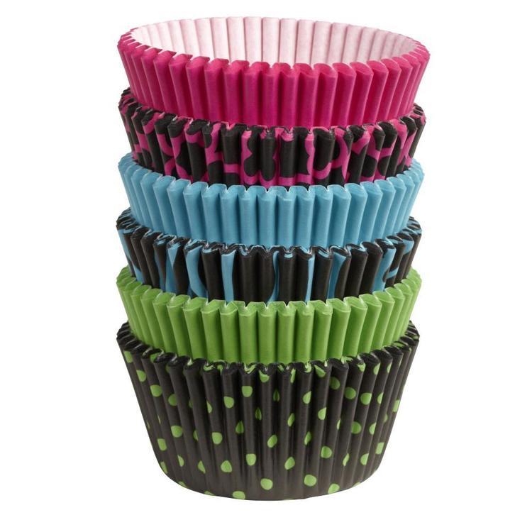 Wilton Neon Darks Standard Baking Cups 150 Pack