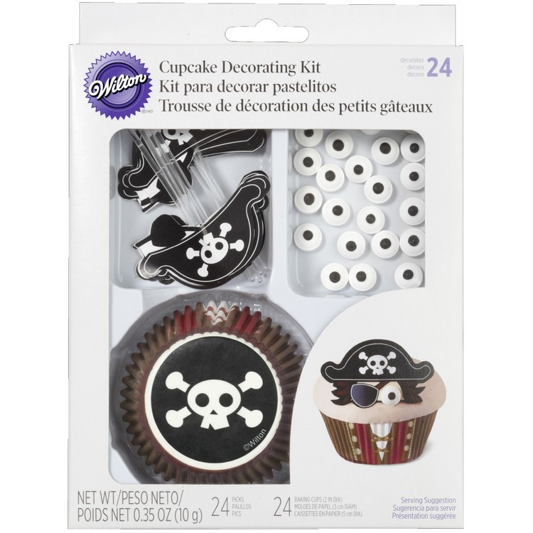 Wilton Pirate Cupcake Decorating Kit Black