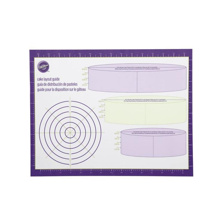 Wilton Cake Layout Guide White & Purple