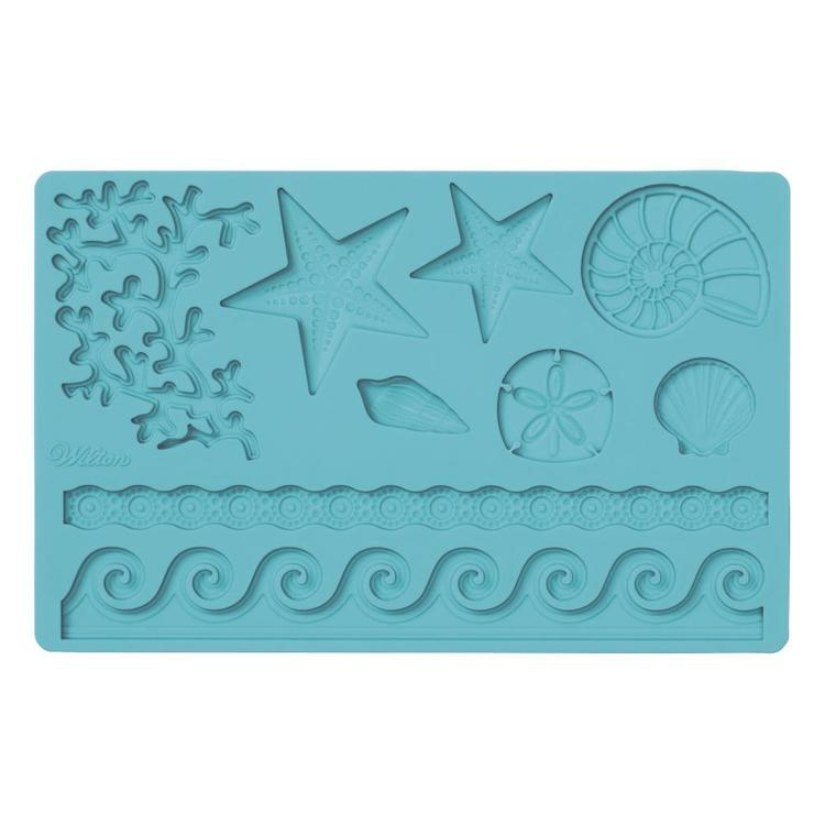 Wilton Sea Life & Gum Paste Mould Blue