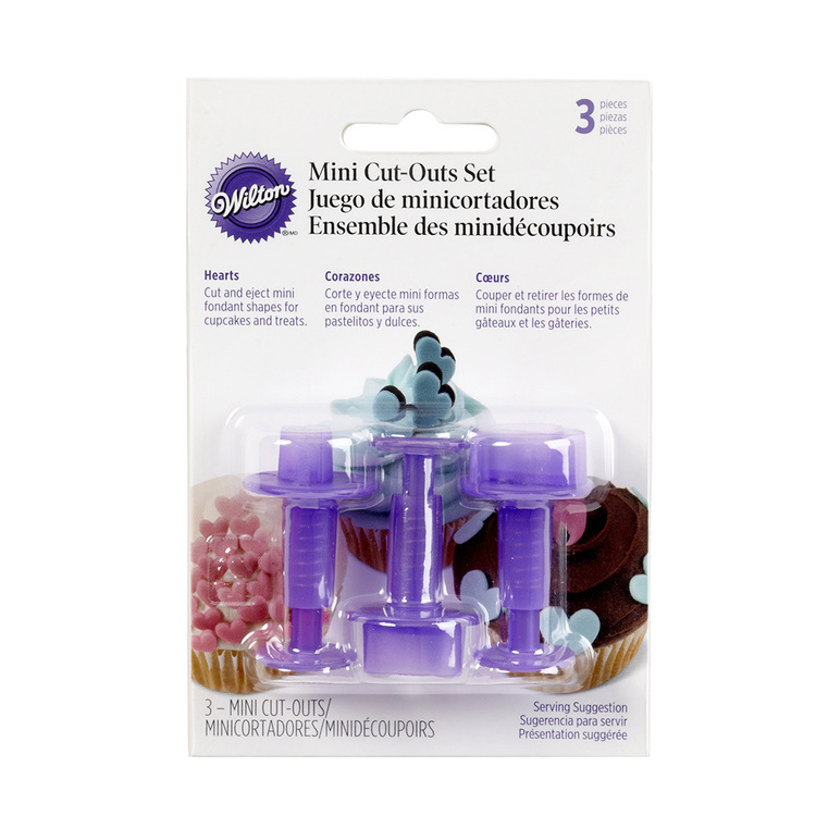 Wilton Mini Hearts Fondant Cutters Purple