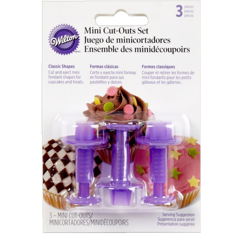 Wilton Mini Classic Fondant Cutters Purple
