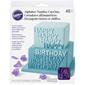 Wilton Alphabet and Numbers Cutouts Purple