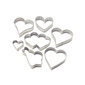 Wilton Hearts Metal Cookie Cutter Set 7 Piece Silver
