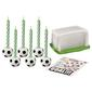 Wilton Soccer Candle Set Black & White