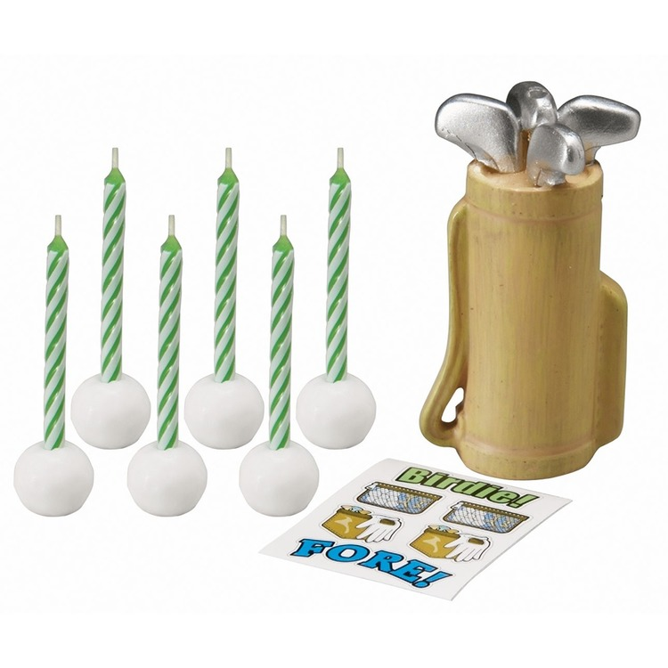 Wilton Golf Candle Set Multicoloured
