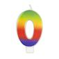 Wilton Rainbow No. 0 Candle Multicoloured