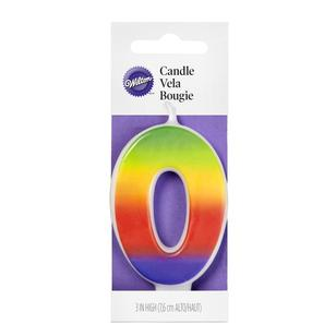 Wilton Rainbow No. 0 Candle